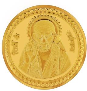 RSBL BIS Hallmarked Shirdi Sai Baba 24 (995) K 10 g Yellow Gold Coin