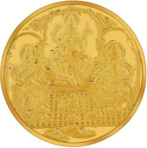 RSBL BIS Hallmarked Lakshmi ,Ganesh & Saraswati Precious 24 (995) K 10 g Yellow Gold Coin