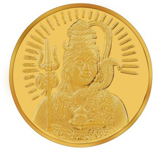 RSBL BIS Hallmarked Lord Shiva Precious 24 (995) K 10 g Yellow Gold Coin