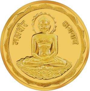 RSBL BIS Hallmarked Mahavir New design 24 (995) K 10 g Yellow Gold Coin