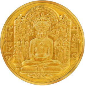 RSBL BIS Hallmarked Shankheshwar Parshwanath Precious 24 (995) K 10 g Yellow Gold Coin