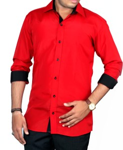 0c6c314b FINIVO FASHION Men s Solid Casual Red Shirt Best Price in India ...
