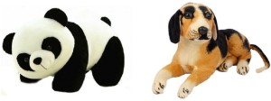Manoj Enterprises Fashionble Gift Soft Stuff Panda & HM-Dog 32 Cm  - 14 inch