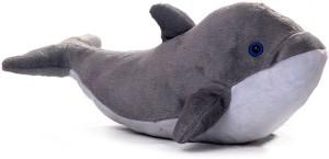Manoj Enterprises Fashionble Gift Soft Stuff Pet Dollphin 26 Cm Grey Color  - 16 inch