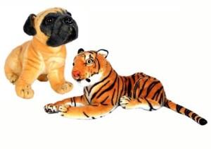 Manoj Enterprises Fashionble Gift Soft Stuff Lower Teddy Bear & PG-Dog 32 Cm  - 14 inch