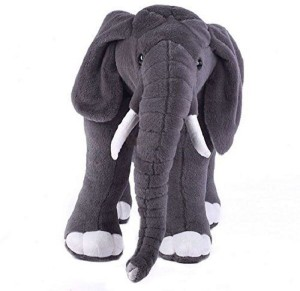 Manoj Enterprises Fashionble Gift Soft Stuff Standing Elephant 40 Cm Crey Color  - 18 inch