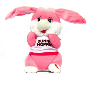 HALO NATION Hopping Bunny Plush Musical Toy Battery Operated Soft Toy  - 34 cm