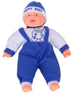 Manoj Enterprises Fashionble Gift Soft Stuff Loughing Boys 40 Cm Blue Color  - 15 inch