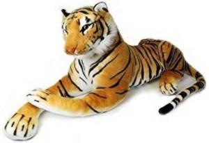 Smartoys Giant Stuffed Tiger Animal Big Tiger Plush Large Brown  - 90 cm