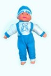 Manoj Enterprises Fashionble Gift Soft Stuff Laughing Boy Sky Blue Color 35 CM  - 16 inch