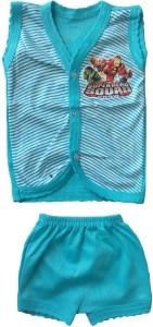 2696542f9 Sonpra New Born Baby Soft Cotton Striped Pattern Jablas Shorts Dress Combo  Set ( 0 -3 Months )Multicolor