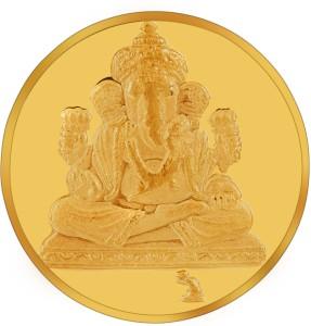 RSBL BIS Hallmarked Ganesh Precious 24 (995) K 5 g Yellow Gold Coin