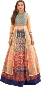 31a519fd6a2 Sanskriti Designers Satin Self Design Semi-stitched Lehenga Choli Material  Price List