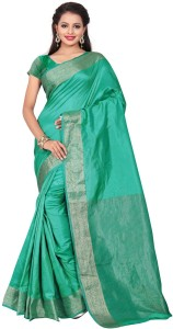 Makeway Woven Fashion Poly Silk SareeLight Green