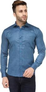 Being Fab Mens Geometric Printed Casual Shirt