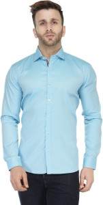 Being Fab Men's Solid Casual Light Blue Shirt