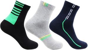 Bonjour Men's Printed Ankle Length Socks