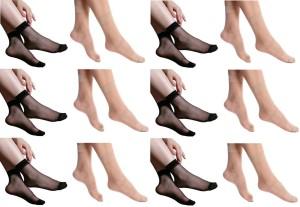 Simon Women's Striped Ankle Length Socks