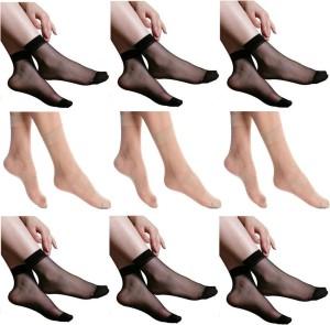 Simon Women's Solid Ankle Length Socks