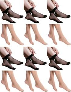 Simon Women's Floral Print Ankle Length Socks