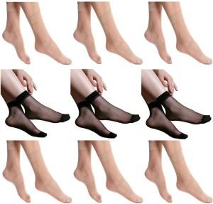 Simon Women's Self Design Ankle Length Socks