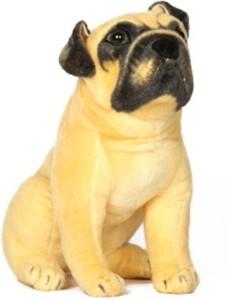 CraftSmith Soft Toy Stuffed Pug Sitting Dog  - 30 cm