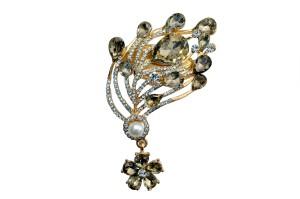 Mansiyaorange Designer Latest Fancy Sari Pin/Saree Pin/Hijab Pin  BroochCopper