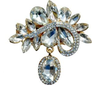 Mansiyaorange Designer Latest Fancy Sari Pin/Saree Pin/Hijab Pin BroochWhite