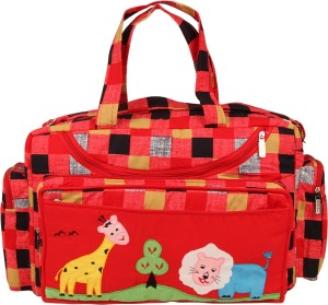 MomToBe Checkered Printed Diaper Bag