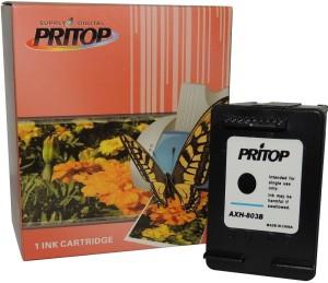 Pritop 803 One Black Ink Cartridge for HP Deskjet 1112 Printer,2131 All-in-One Printer,2132 All-In-One Printer Single Color Ink