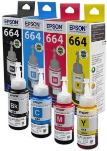 Epson T664 Multi Color Ink (Black, Magenta, Cyan, Yellow) Multi Color Ink
