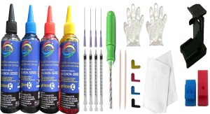 Gocolor The Complete Refill kit for Canon Printer ( 100 ml X 4 Color Bottle & Complete Accessories ) Multi Color Ink