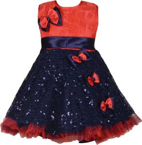 54a026b65 Aarika Baby Girl s Midi Knee Length Party Dress Red Sleeveless Best ...