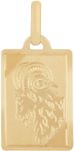 TBZ TheOriginal Aries Horoscope 14kt Yellow Gold Pendant