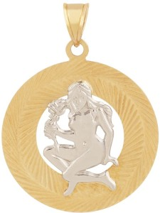 TBZ TheOriginal Virgo Horoscope 14kt Yellow Gold Pendant