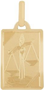 TBZ TheOriginal Libra Horoscope 14kt Yellow Gold Pendant