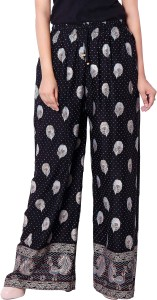 Deeksha Regular Fit Women's Black Trousers