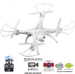 Skyhawk White FPV Wifi Transmission Camera Drone With App Live Streaming On  PhoneWhite