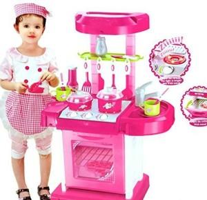 Saffire Kitchen Set Kids Luxury Battery Operated Kitchen Super Toy