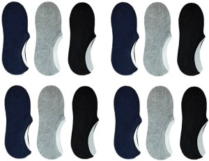 Zacharias Men & Women Solid No Show Socks