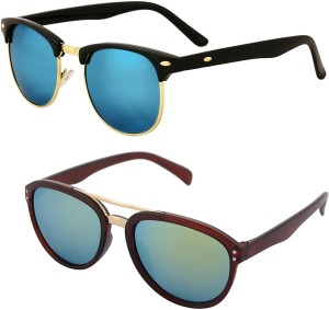 395e60d27f Aventus COMS46S63 Clubmaster Sunglasses Blue Green Best Price in ...