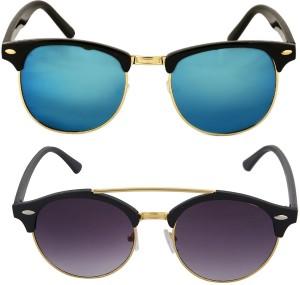 9eb9984ec0 Aventus COMS46S67 Clubmaster Sunglasses Blue Black Best Price in India