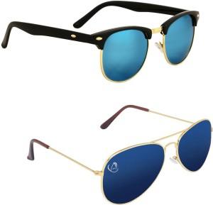 3c2ac016c4 Aventus COMS05S56 Clubmaster Sunglasses Blue Best Price in India ...