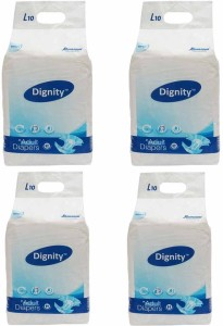 Romsons Dignity Adult Diapers Large 4 Packs of 10 Diapers Each - L