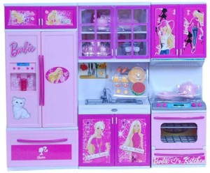 Vbenterprise Swastik Fashion Latest Barbie Kitchen Setpink