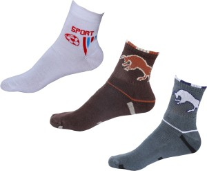 IndiWeaves Men's Printed Ankle Length Socks