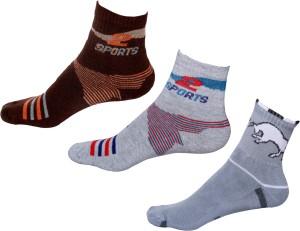 IndiWeaves Men's Printed Ankle Length Socks