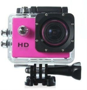 Mezire HD Action Adventure camera (05) pink 130 degree Wide angle lens Sports & Action Camera
