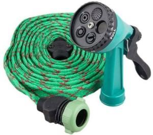CheckSums 11138 Green 10 Mtr Pressure Washing Multifunctional Water Spray Jet Gun Hose Pipe For Car/Bike/Garden/Pet Wash High Pressure Washer