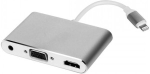 Axcess 3 IN 1 LIGHTNING TO HDMI/VGA/AUDIO ADAPTOR HDMI Cable